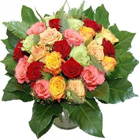 Mixed roses compact