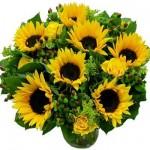 Zonnebloemen boeket