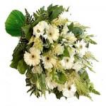 Rouwboeket witte bloemen