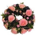 Rouwkrans roze